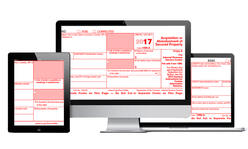 E File 1099 A Form Form 1099 A Acquisition Or Abandonment Of