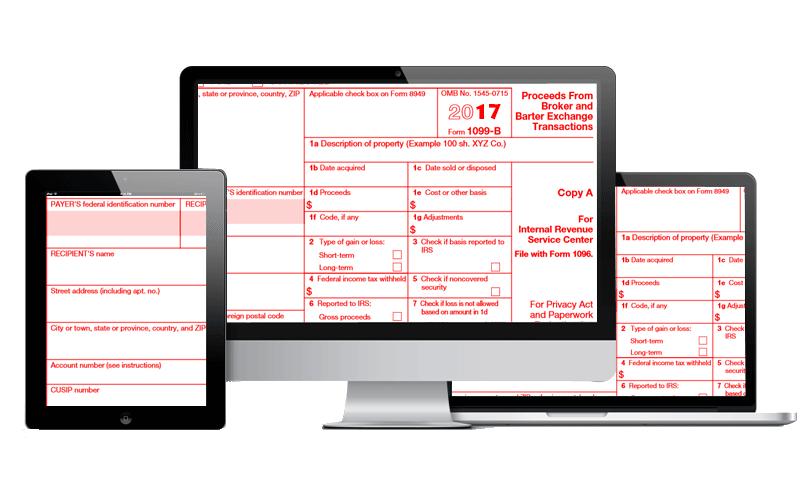 E File 1099 B Form Form 1099 B Broker Or Barter Exchangeg