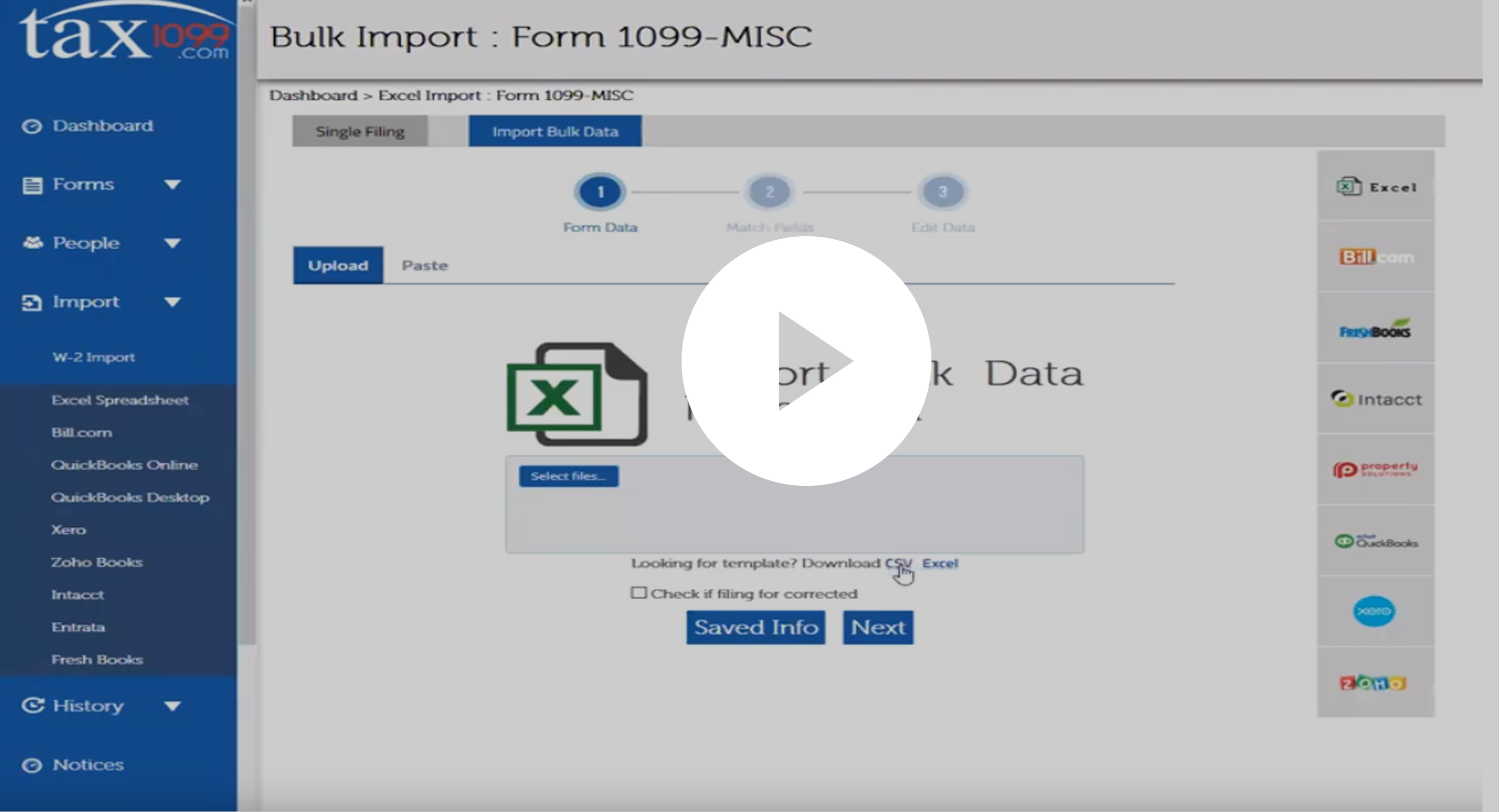 Bulk Import - Form 1099 - Demo