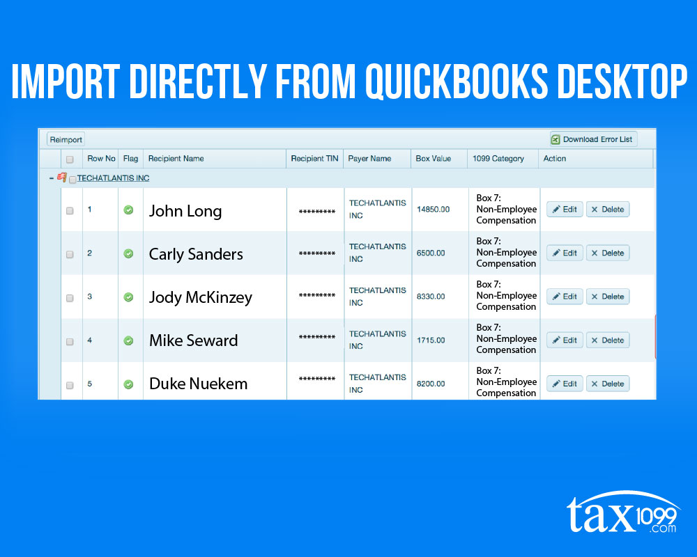 Quickbooks desktop plugin tax1099 sync your 1099 vendors from quickbooks desktop to tax1099 in a single click falaconquin